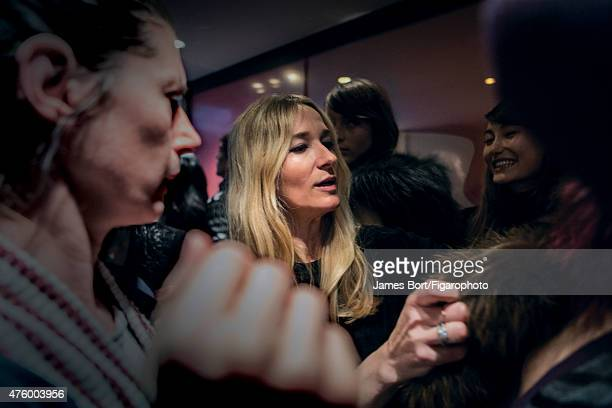 Fashion designer Julie de Libran is photographed for Madame Figaro backstage at Sonia Rykiel's Autumn/Winter 2015-2016 prêt-à-porter show on March 6,...