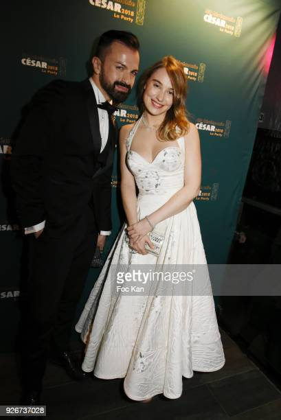 Fashion designer Julien Fournie and actress Deborah Francois attend at the Cesar Film Awards 2018 After Party at Le Queen on March 2 2018 in Paris...