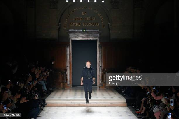 Fashion designer Julien Fournie during the Julien Fournie Spring Summer 2019 show as part of Paris Fashion Week on January 22 2019 in Paris France