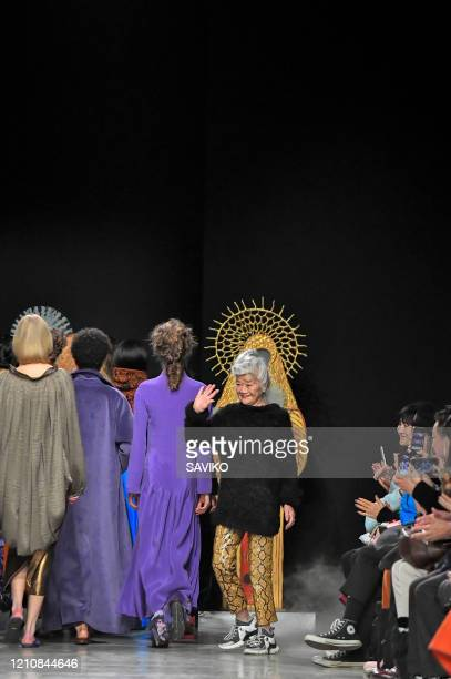 Fashion designer Junko Shimada walks the runway during the Junko Shimada Ready to Wear fashion show as part of Paris Fashion Week Womenswear...