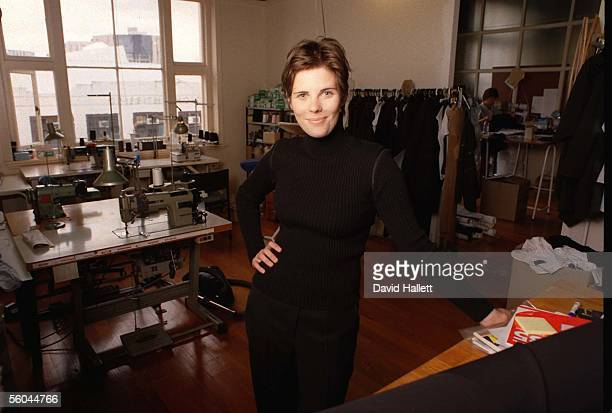 Fashion designer Karen Walker, shown here in her workroom, has been invited to London Fashion Week to take part in a fashion show showcasing top New...