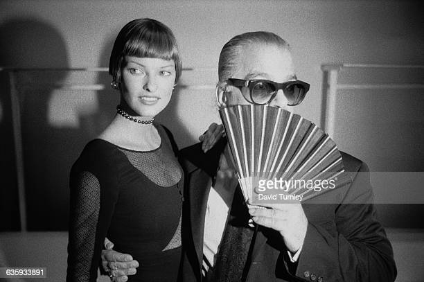 Fashion Designer Karl Lagerfeld and Linda Evangelista