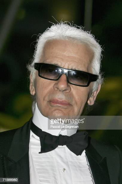 Fashion designer Karl Lagerfeld arrives at the Monaco Red Cross Ball under the Presidency of HSH Prince Albert II in the Salles des Etoiles at the...