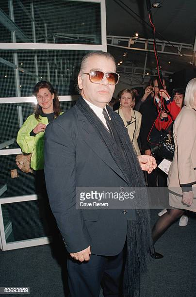 Fashion designer Karl Lagerfeld at the Lagerfeld Photo Awards, 11th April 1991.