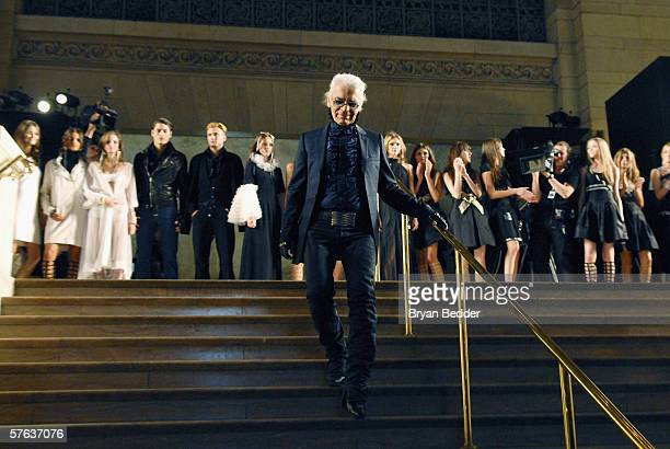 Fashion Designer Karl Lagerfeld attends the Chanel 2006/2007 Cruise Collection fashion show May 17 2006 in New York City