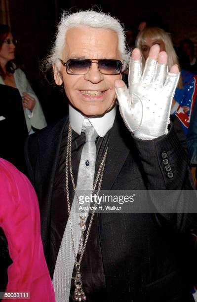 Fashion designer Karl Lagerfeld attends the Fendi 80th Anniversary Party Hosted By Karl Lagerfeld on October 29 2005 in New York City