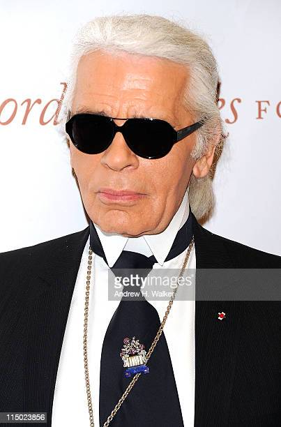Fashion designer Karl Lagerfeld attends the Gordon Parks Foundation awards dinner and auction at Gotham Hall on June 1 2011 in New York City