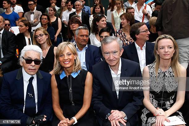 Fashion Designer Karl Lagerfeld Helene Arnault Owner of LVMH Luxury Group Bernard Arnault Louis Vuitton's executive vice president Delphine Arnault...