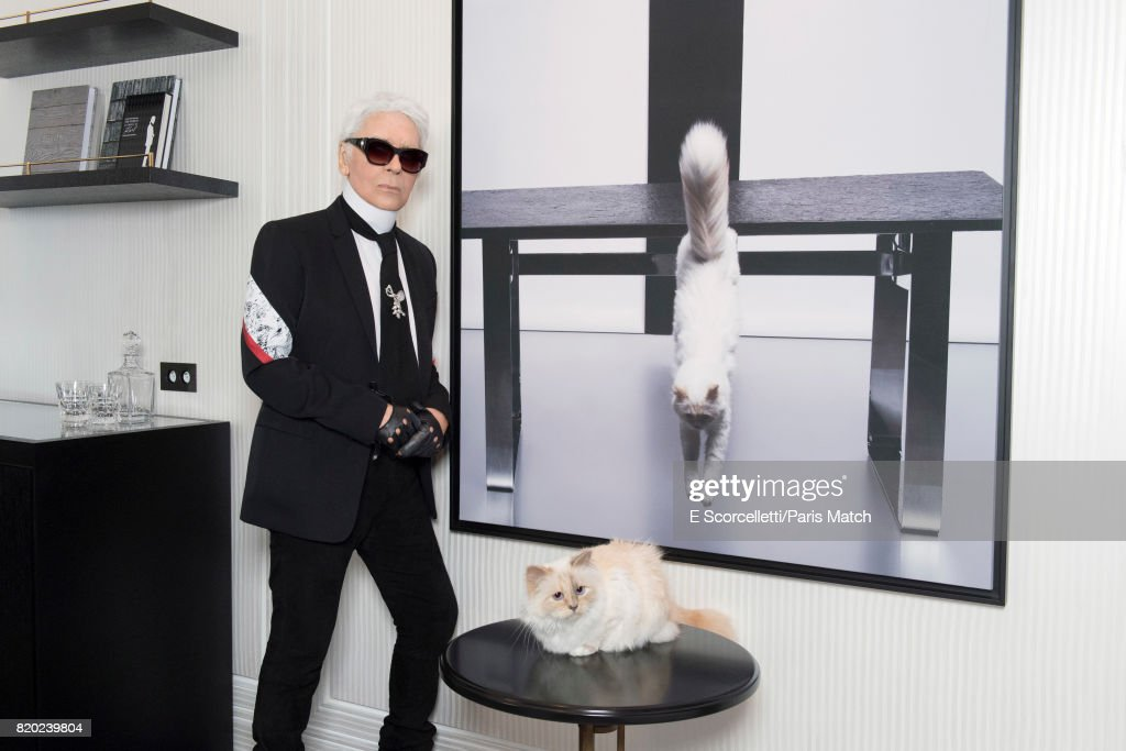 Karl Lagerfeld, Paris Match Issue 3557, July 26, 2017