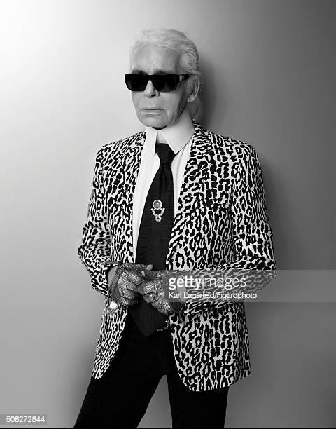 Fashion designer Karl Lagerfeld is photographed for Madame Figaro on November 18 2015 in Paris France PUBLISHED IMAGE CREDIT MUST READ Karl...