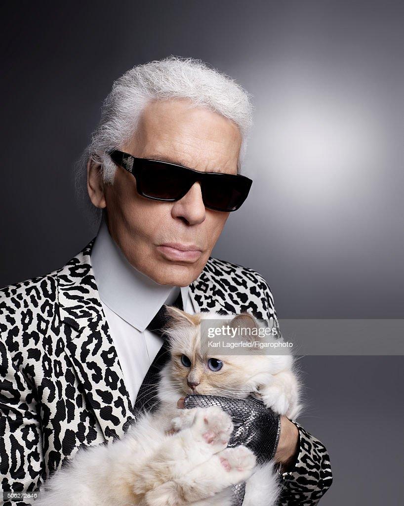 Karl Lagerfeld, Madame Figaro, January 15, 2016 : News Photo