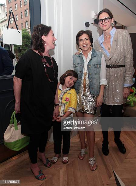 Fashion designer Kate Spade and daughter Frances Spade Editorial Director of Martha Stewart Weddings and host of the opening of the JCrew Bridal...