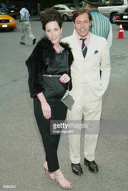 Fashion designer Kate Spade and her husband Andy attend the Fresh Air Fund Salute To American Heroes at Tavern On The Green June 5 2003 in New York...
