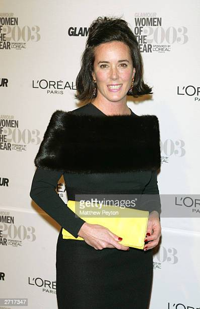 Fashion designer Kate Spade arrives at the 2003 Glamour Women of the Year Awards at the American Museum of Natural History November 10 2003 in New...