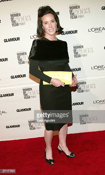 "Fashion designer Kate Spade arrives at the 2003 Glamour ""Women of the Year"" Awards at the American Museum of Natural History November 10, 2003 in New..."