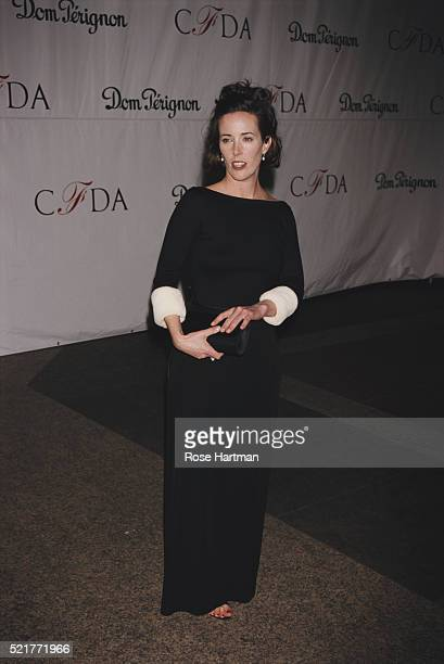 Fashion designer Kate Spade attends a CFDA event New York New York 1998