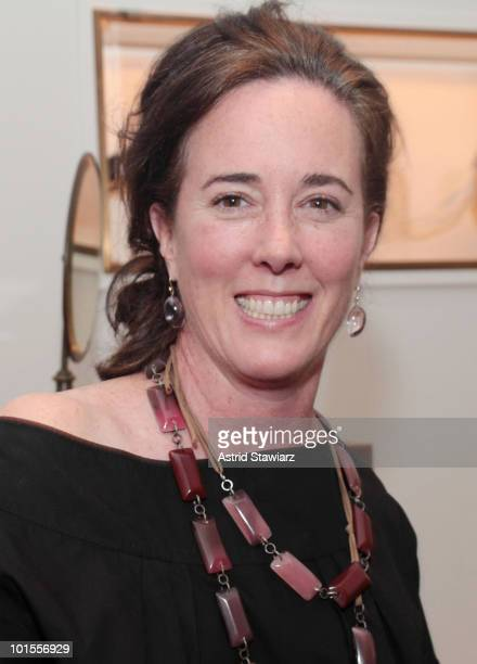 Fashion designer Kate Spade attends the opening of the JCrew Bridal Boutique hosted by Darcy Miller at JCrew Bridal Boutique on June 1 2010 in New...