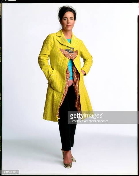 Fashion designer Kate Spade is photographed in 2004 in New York City