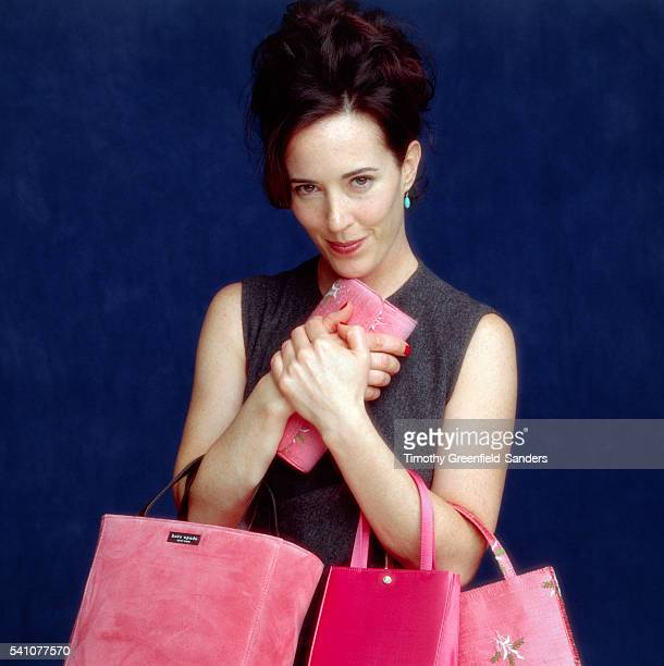Fashion designer Kate Spade is photographed in March 1998 in New York City