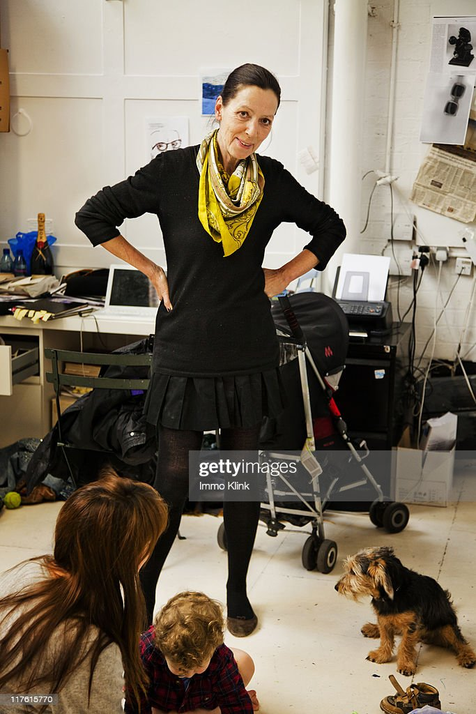 Fashion designer Katherine Hamnett is photographed for the Independent on March 16, 2011 in London, England.