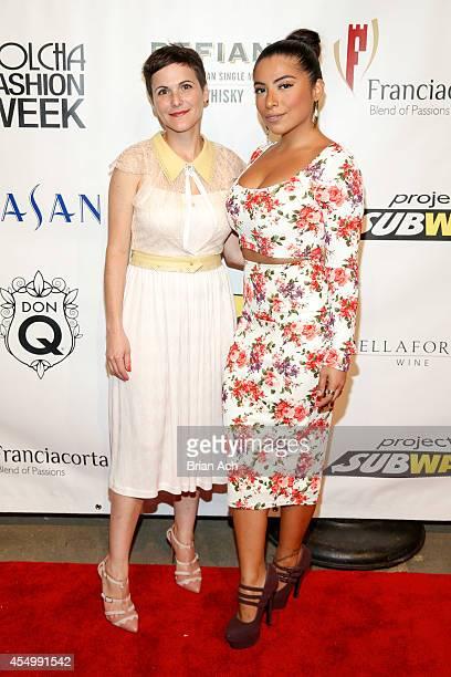 Fashion designer Katty Xiomara and Jessenia Vice attend the Nolcha Fashion Week New York Spring Collections 2015 during NY Fashion Week at Eyebeam...