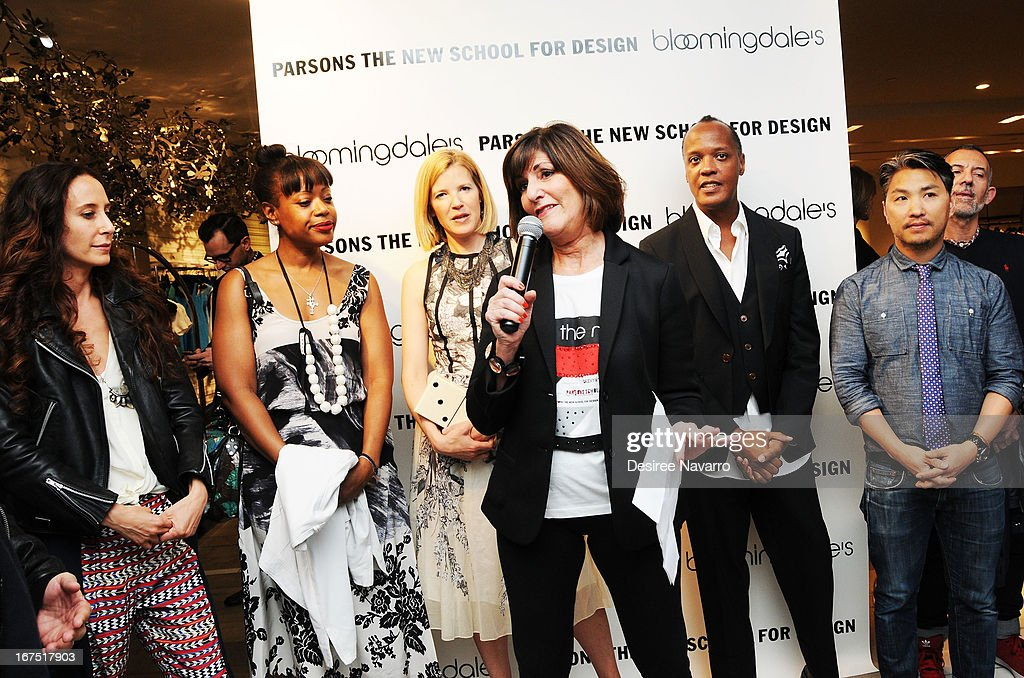 Fashion designer Kay Unger speaks at Bloomingdale's: b the next at Bloomingdale's on April 25, 2013 in New York City.