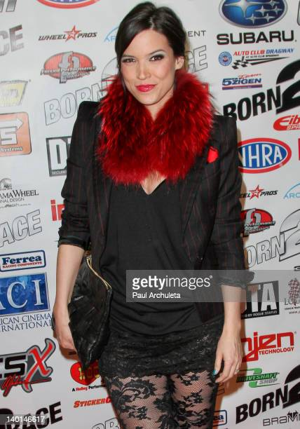 Fashion Designer Kelly Nishimoto attends the 'Born 2 Race' Los Angeles premiere at Grauman's Chinese Theatre on February 28 2012 in Hollywood...