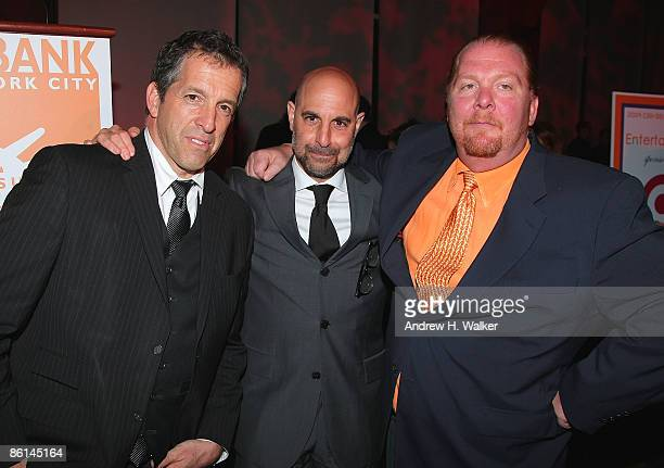 Fashion designer Kenneth Cole actor Stanley Tucci and chef Mario Batali attend the Food Bank for New York City's 6th Annual CanDo Awards Dinner on...