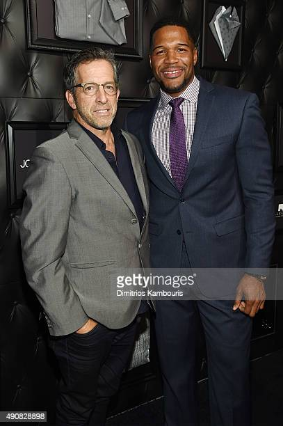 Fashion designer Kenneth Cole and football player Michael Strahan attend JCPenney and Michael Strahan's launch of Collection by Michael Strahan on...