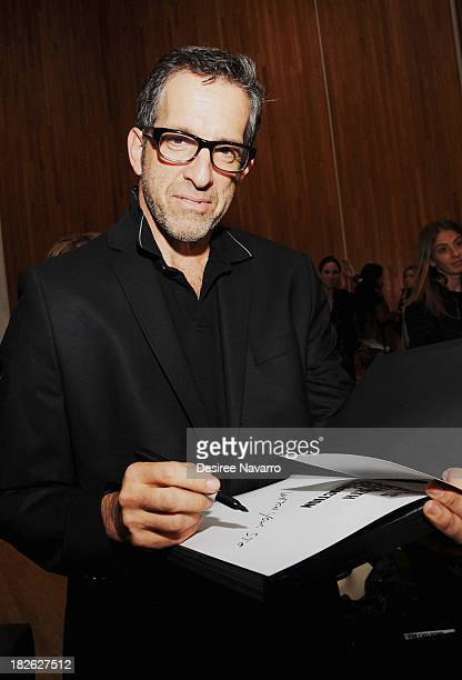 Fashion designer Kenneth Cole attends 'This is a Kenneth Cole Production' discussion and book signing at The Fashion Institute of Technology on...