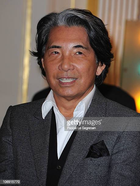 Fashion designer Kenzo Takada poses at Ministere de la Culture on November 16 2010 in Paris France