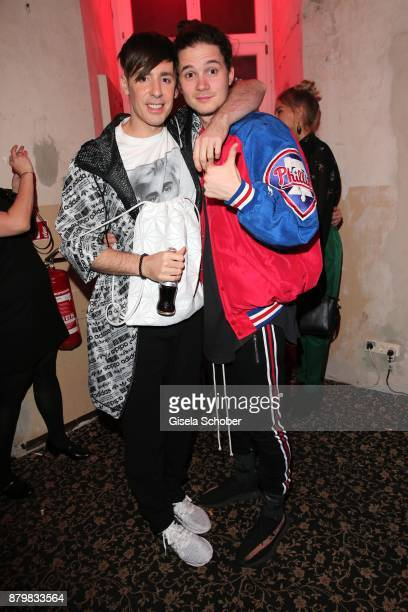 Fashion designer Kilian Kerner and Tilman Poerzgen during the New Faces Award Style 2017 at 'The Grand' hotel on November 15 2017 in Berlin Germany