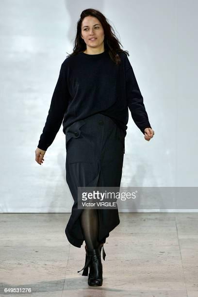 Fashion designer Kim Ellery walks the runway at the Ellery Ready to Wear fashion show during Paris Fashion Week Womenswear Fall/Winter 2017/2018 on...