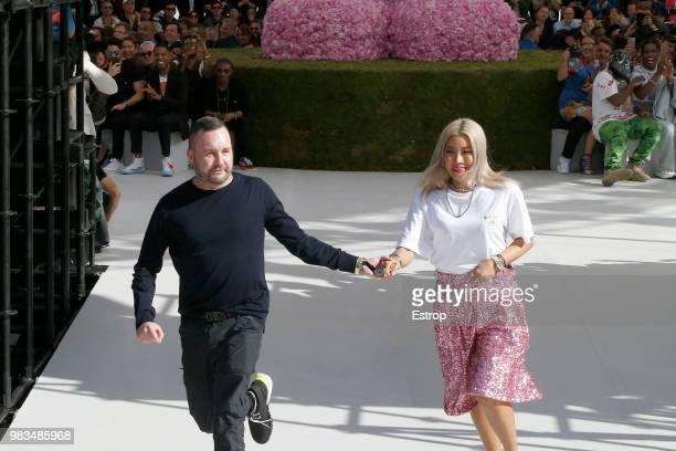 Fashion designer Kim Jones during the Dior Homme Menswear Spring/Summer 2019 show as part of Paris Fashion Week on June 23 2018 in Paris France