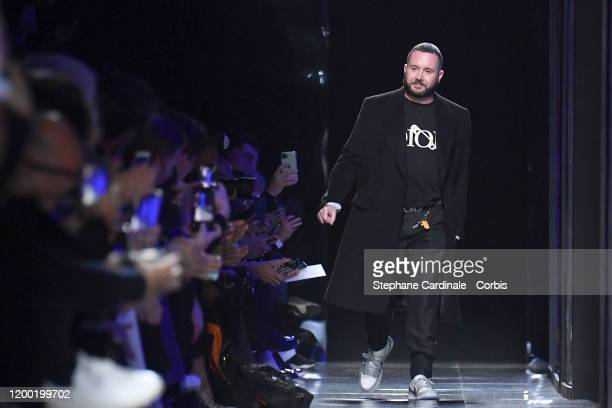 Fashion designer Kim Jones walks the runway during the Dior Homme Menswear Fall/Winter 20202021 show as part of Paris Fashion Week on January 17 2020...