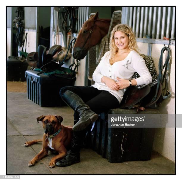 Fashion designer Kimberly Ovitz is photographed for Vanity Fair Magazine on July 27, 2009 in Bridgehampton, New York. Published image.