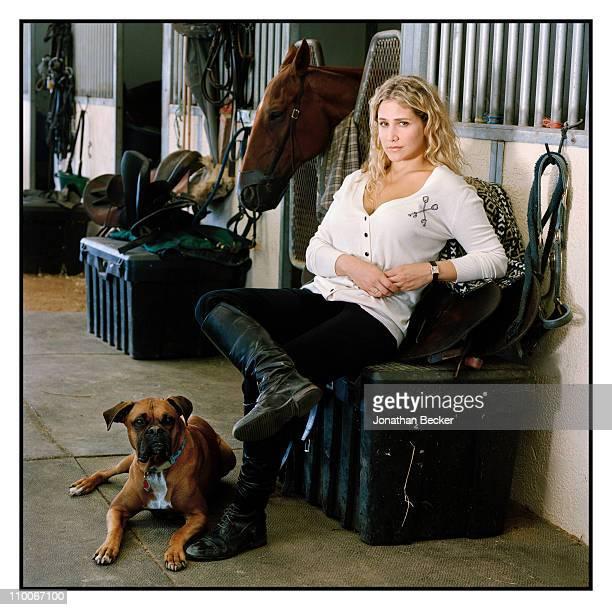 Fashion designer Kimberly Ovitz is photographed for Vanity Fair Magazine on July 27 2009 in Bridgehampton New York
