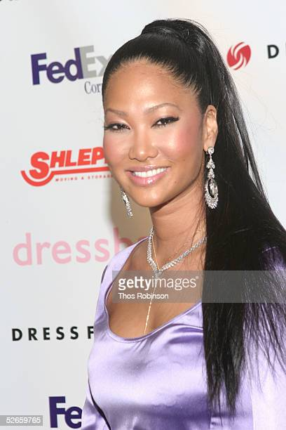 """Fashion designer Kimora Lee Simmons attends the Dress For Success """"April In Paris"""" annual gala at Marriott Marquis on April 19, 2005 in New York City."""