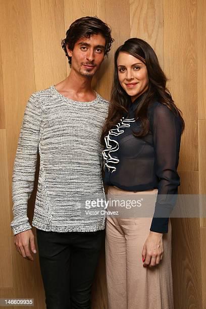 Fashion designer Kris Goyri and actress Alexandra De La Mora pose during the Kris Goyri Sian Ka An fashion show at Morimoto Camino Real on June 20...