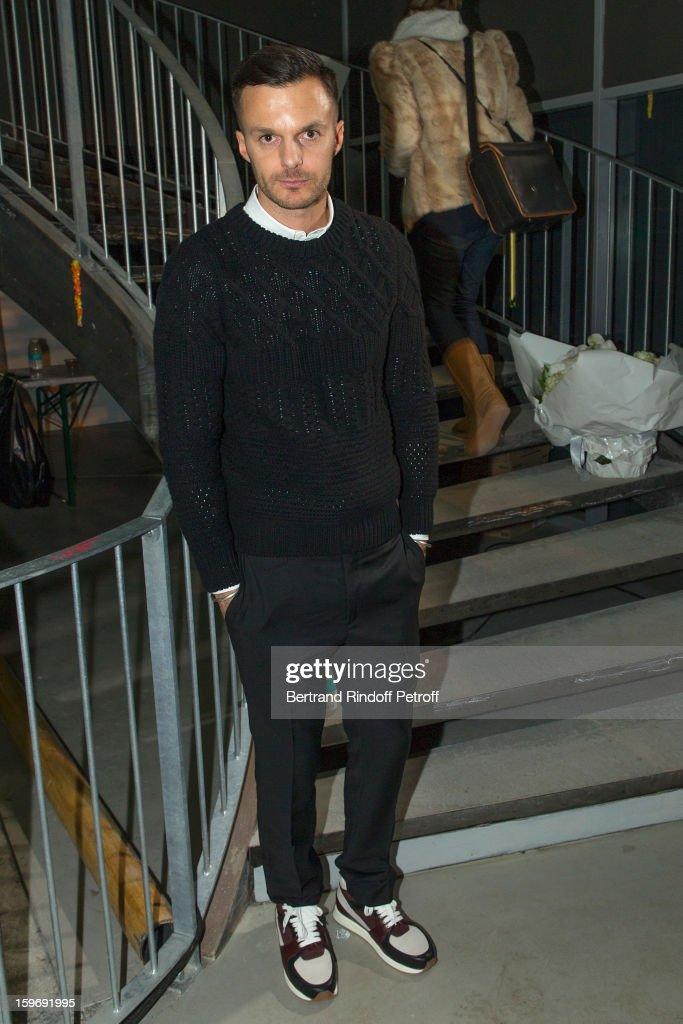 Fashion designer Kris Van Assche attends the Krisvanassche Men Autumn / Winter 2013 show as part of Paris Fashion Week on January 18, 2013 in Paris, France.