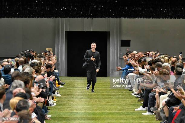 Fashion designer Kris van Assche walks the runway during the Dior Homme Menswear Spring/Summer 2018 show as part of Paris Fashion Week on June 24...
