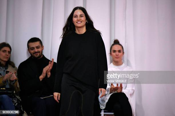 Fashion designer Kym Ellery walks the runway during the Ellery Haute Couture Spring Summer 2018 show as part of Paris Fashion Week on January 23 2018...