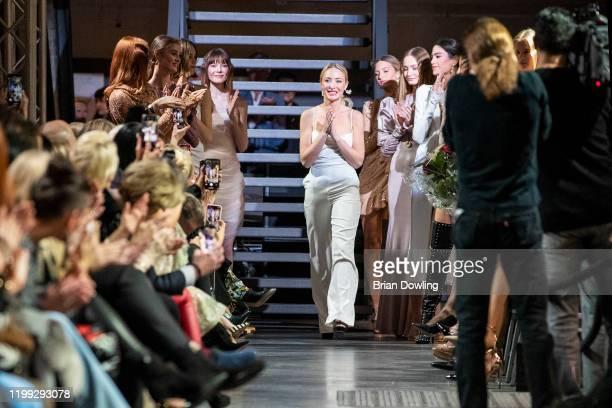 Fashion designer Lana Mueller at the Lana Mueller fashion show during Berlin Fashion Week Autumn/Winter 2020 at Koenigliche Porzellan Manufaktur on...