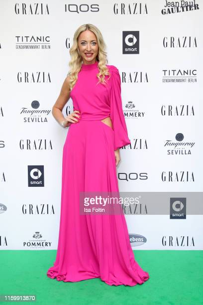 Fashion designer Lana Mueller during the Grazia Fashion Night at Titanic Hotel on July 3 2019 in Berlin Germany