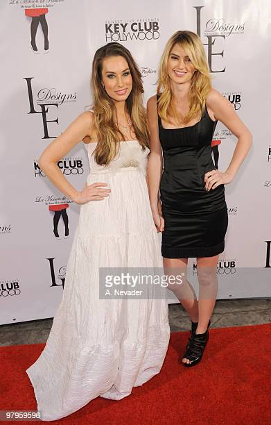 Fashion designer Lauren Elaine and Chelsea Ray attend LA Rocks Fashion Week Lauren Elaine Fall 2010 Black Label at the Key Club on March 22 2010 in...