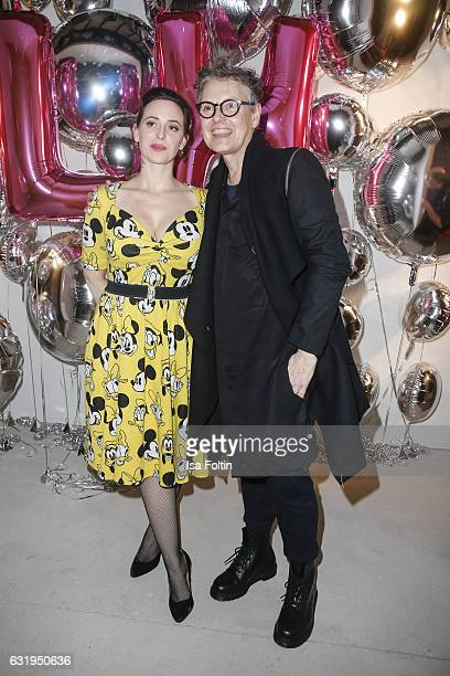 Fashion designer Lena Hoschek and model scout Rolf Scheider seen at the Lena Hoschek show during the MercedesBenz Fashion Week Berlin A/W 2017 at...