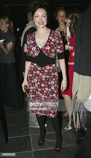 Fashion Designer Leona Edmiston attends the Robert Rosen Fashion Plate Exhibition at Westfield Bondi Junction on October 12, 2005 in Sydney,...