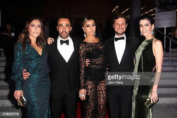 Fashion Designer Lilly Sarti Stylist Yan Acioli TV Personality Sabrina Sato and guests attend the third annual BrazilFoundation Gala Miami at Perez...