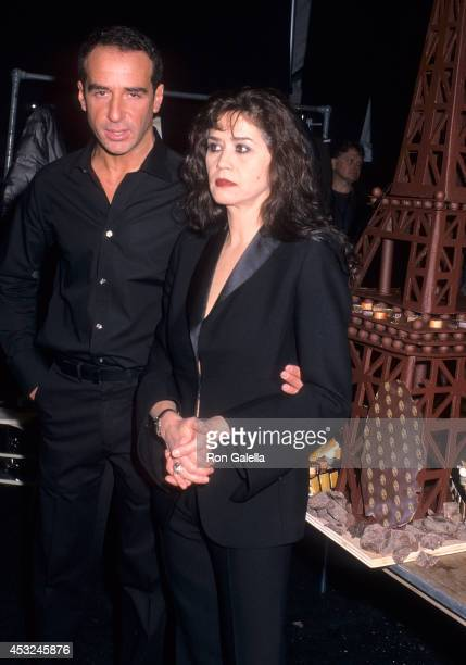 Fashion designer Lloyd Klein and actress Maria Schneider attend Fall 2001 New York Fashion Week Lloyd Klein Fashion Show/Paris Hilton's 20th Birthday...