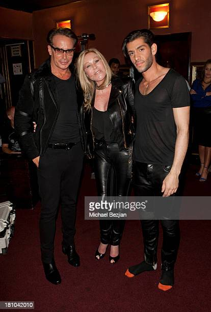 Fashion designer Lloyd Klein Jocelyn Wildenstein and recording artist Mohammad attend Bungalo Universal Recording Artist Mohammad's Debut Showcase...